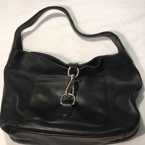 Dooney And Bourke Black Vintage Leather Purse